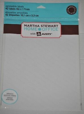 Martha Stewart Home Office With Avery Removable Labels 4 X 1-516 42 Labels
