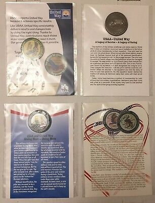 Usaa Insurance Challenge Coins   United Way   4 Total
