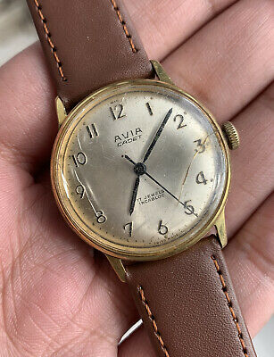 Vintage Avia Cadet Hand Winding 17 Jewels Swiss Made  Men Watch - WORKING