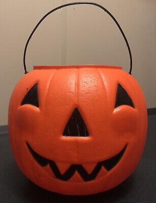 Vintage General Foam Plastics Blow Mold Halloween Plastic Candy Bucket Treat