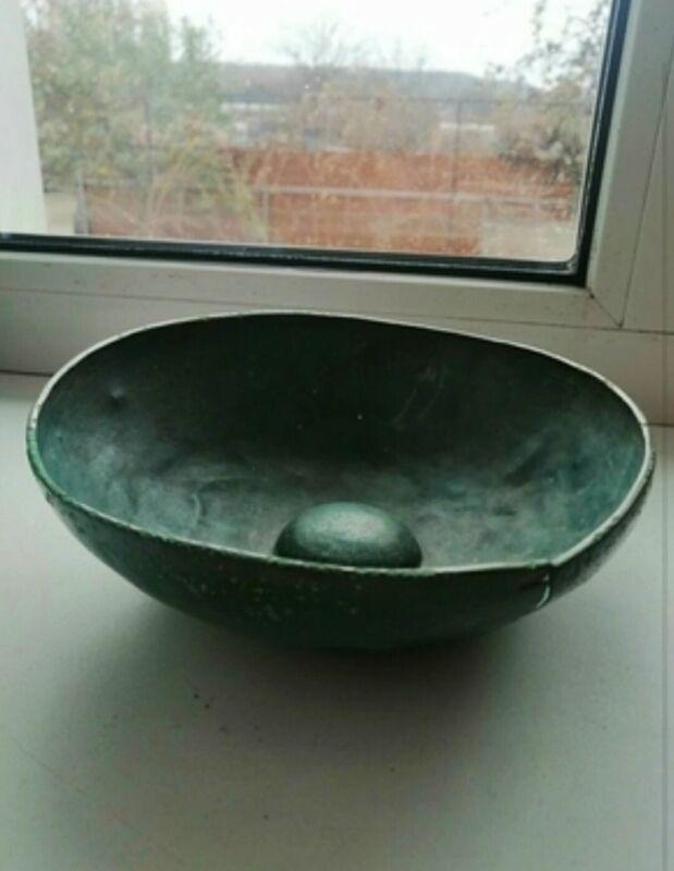 Antique Bronze Bowl * Ancient Scythians Vikings Rare Original Artefact * 18 cm