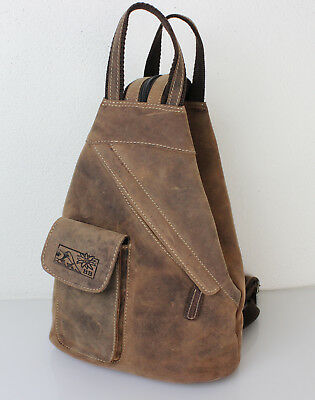 Bay Leder Tasche ( 2 in 1 Leder Rucksack und Umhängetasche Hunter Collection von Bayern Bag® 1585)
