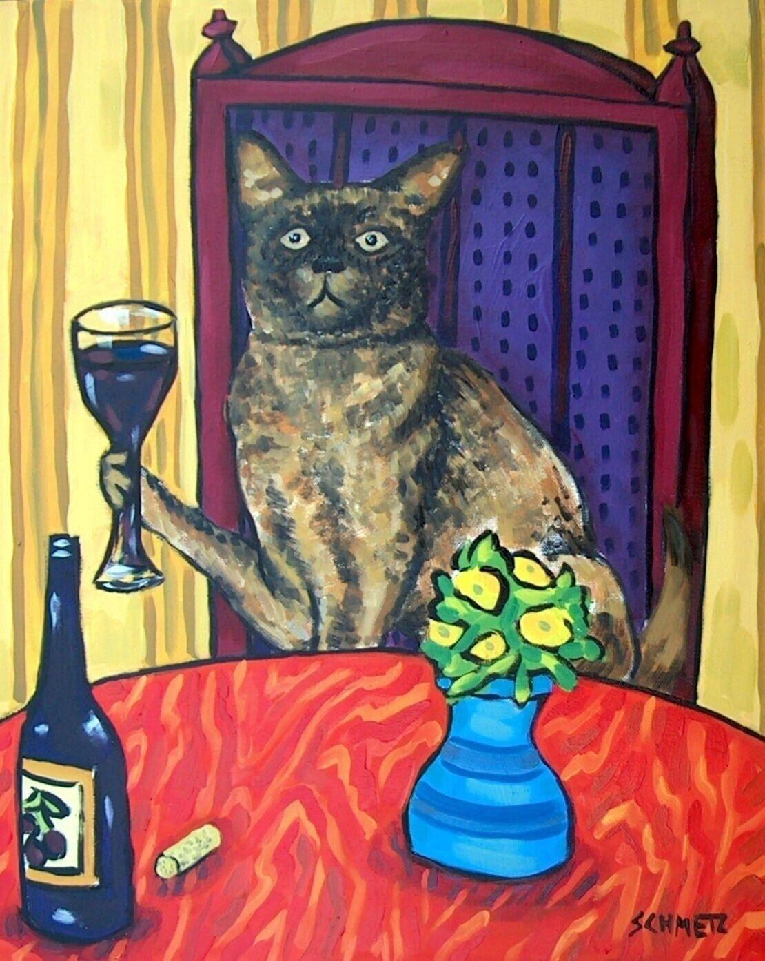 BURMESE cat sleeping  art print 11x14 bedroom artwork