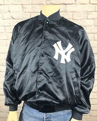 New York Yankees Satin Nylon Jacket Lined Mens Large MLB