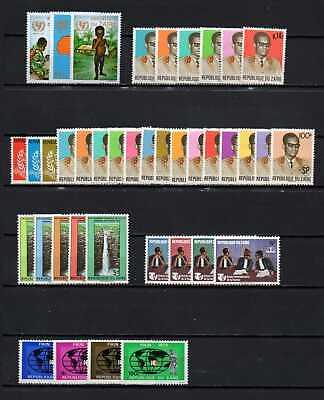 Belgisch Congo Belge - Rep. du Zaïre Collection MNH sets (10) c40.75Eu.