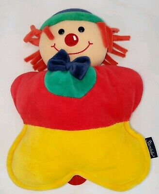 Sterntaler Musical pull string clown baby plush stuffed toy EUC made in Germany Clown Musical Pull