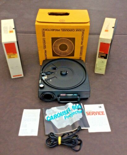 Kodak Carousel 600 Slide Projector Tested and Working (See Photos)