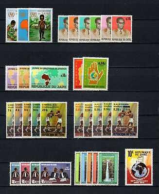 Belgisch Congo Belge - Rep. du Zaïre Collection MNH sets (9) c22.05Eu.