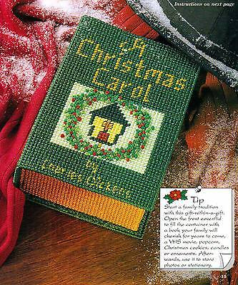 CHRISTMAS CLASSIC BOOK BOX PLASTIC CANVAS PATTERN INSTRUCTIONS
