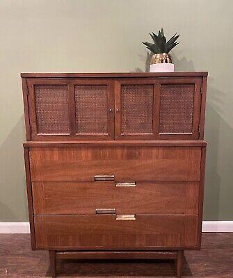 American Of Martinsville Highboy Dresser In Vintage Condition