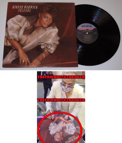 "DIONNE WARWICK signed Autographed ""FRIENDS ALBUM LP - EXACT PROOF - COA"