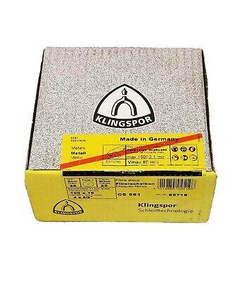 """25 pc  5/"""" Sanding Discs 220 Grit NO Holes Hook /& Loop  by Klingspor"""