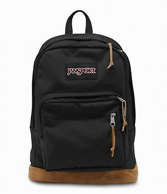 New 100% Authentic JANSPORT RIGHT PACK TYP7008 BLACK Backpack
