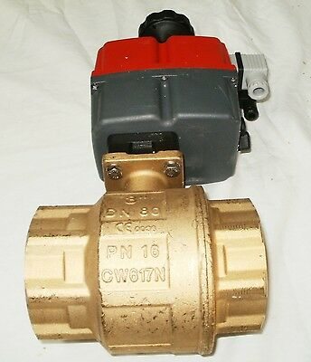 Valworx 561055a Electric Actuated Brass Ball Valve 3in Nptf 115-240v New Cw617n