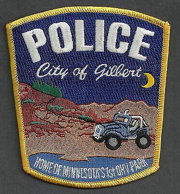 GILBERT MINNESOTA POLICE PATCH