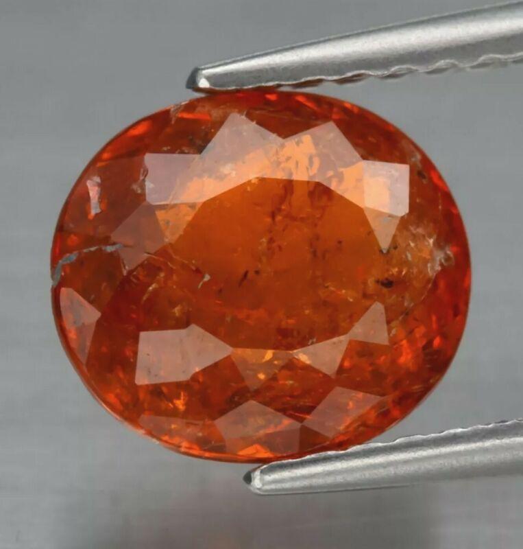 2.06ct 8x7.2mm Oval Natural Orange Spessartite Garnet, Namibia