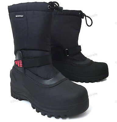 "Mens Winter Boots Nylon 10"" Insulated Waterproof Thermolite Ski Snow Shoes Sizes"