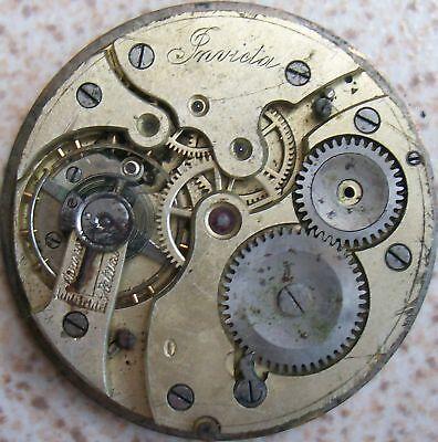Invicta Pocket Watch movement & dial 41,5 mm. in diameter balance Ok.