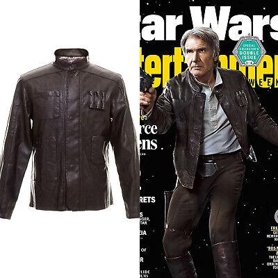Star Wars The Force Awakens Han Solo Braun Jacke Lederkleidung Cosplay - Han Solo Star Wars Kostüm