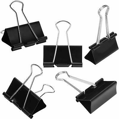 12 Pk Extra Large Binder Clips Big Paper Clamps For Office Supplies 2 Inch Black