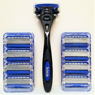 NEW SET: Schick HYDRO5 with TRIMMER - 9 REFILLS AND 1 BLACK HANDLE - FREE SHIP](Shipping & Handling)