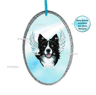 Border Collie Angel Ornament Dog Memorial Christmas Ornament