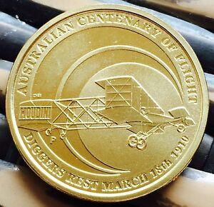AUSTRALIAN Centenary Of Flight $1 One Dollar Coin 2010 Uncirculated Dollar Unc