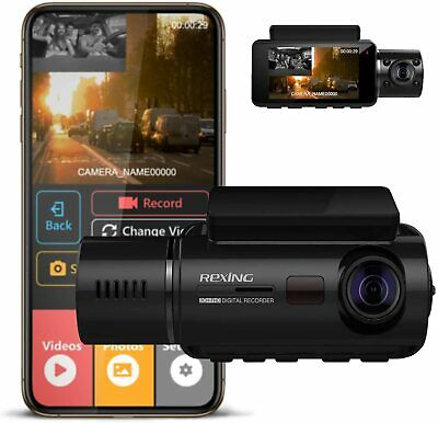Rexing V3 Dual Camera Front and Inside Cabin Infrared Night Vision Full HD 1080p