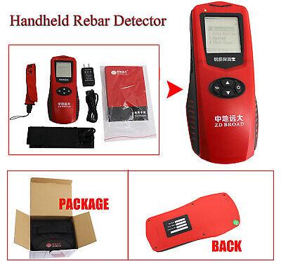 Handheld Rebar Detector Locator Steel Bar Scanner Concrete Protective Layer Test