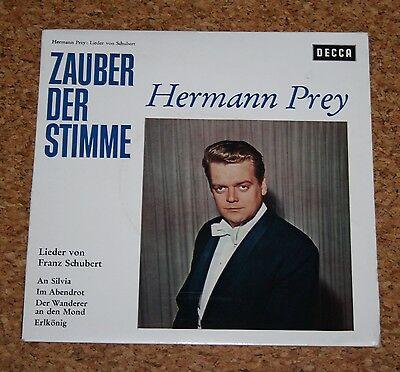 """Single 7"""" Hermann Prey Lieder von Schubert DECCA SVD 1024 Weislabel Musterplatte"""