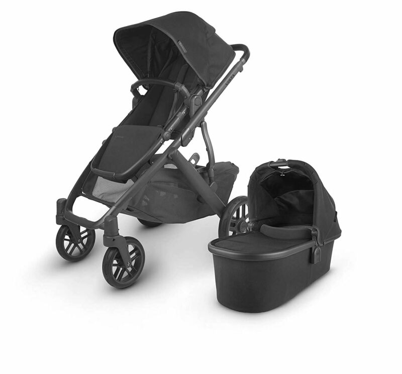 UPPAbaby VISTA V2 Stroller - JAKE (black/carbon/black leather)
