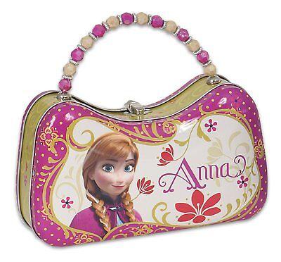 Disney Frozen Anna Tin Purse Lunch Box Carry Case Pink