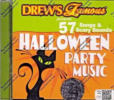 Drew's Famous HALLOWEEN PARTY MUSIC: 57 SPOOKY SONGS & SCARY SOUNDS CD! - Halloween Party Songs Cd