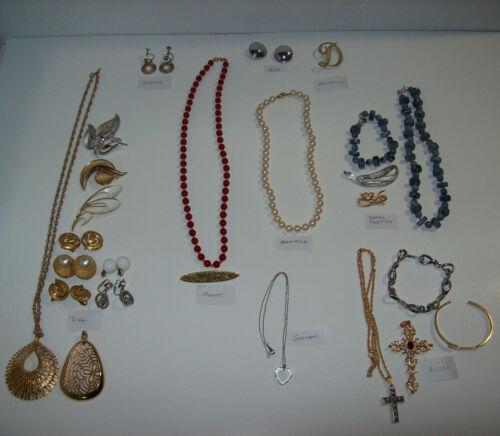 vintage Estate Costume Jewelry Lot: TRIFARI Monet Sarah Coventry Gorham+