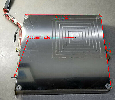 Square Lower Thermal Chuck 6x6 770 To 752f Cartridge Heater 14 Diax 6 Long