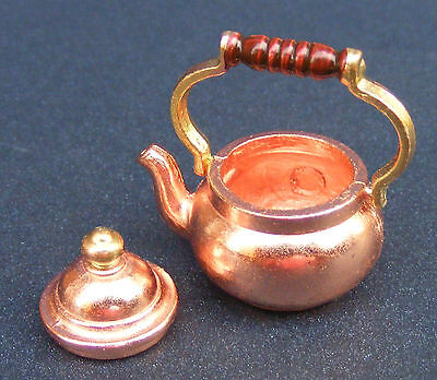1:12 Scale Copper Kettle Dolls House Miniature Kitchen Accessory L67