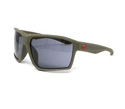 DRAGON Sunglasses TENZIG 318 Matte Olive Rectangle Men's (Sunglasses Dragon For Men)