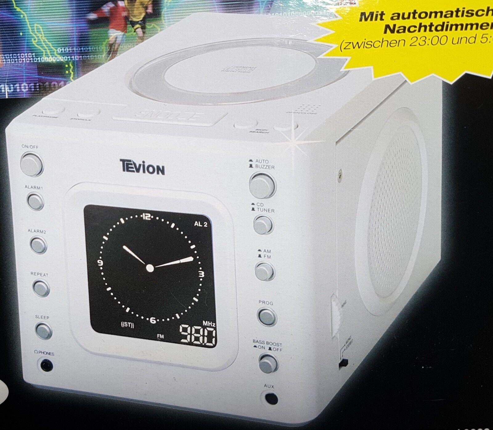 CD Radio uhrenradio küchenradio mit cd player Kinderzimmer Farbe weiß.