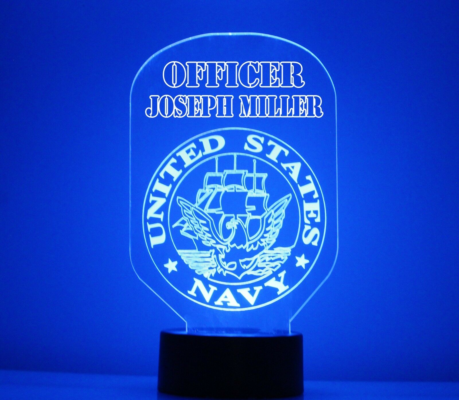 US Navy Lamp Night Light Table Lamp Free Personalize LED Wit