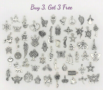 Buy 3 Get 3 Free! Dangle Charms for Bracelets, Necklaces, DIY Jewelry Pendants 7 (Charms For Charm Bracelet)