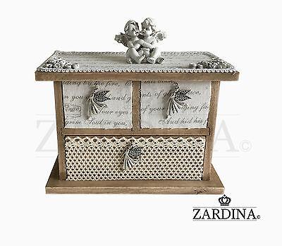 Baby Angels - Craft Wooden Mini Jewellery/Storage Box  Baby Storage Jewelry Boxes