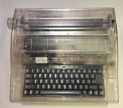 Swintec 2410cc Clear Cabinet Electronic Typewriter