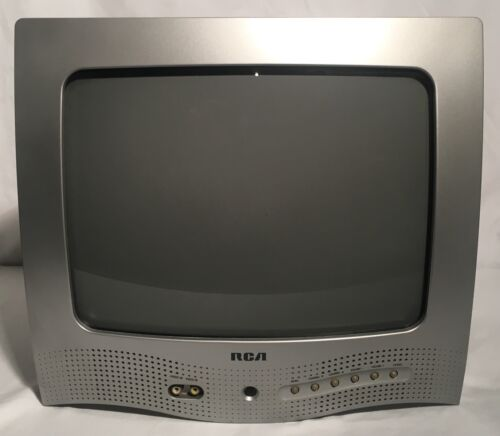"Vintage 2003 RCA E13320 13"" CRT Color TV Working Retro Gaming Television"
