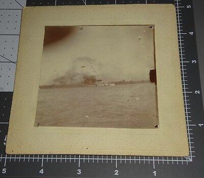 1900's TOLEDO OH Rare City BOAT SHIP DETROIT RIVER Windsor CANADA Cabinet PHOTO