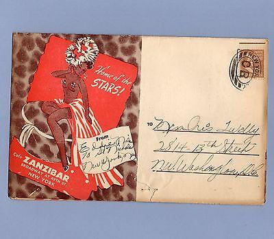 Vintage Cafe Zanzibar Program ELLA FITZGERALD 1940s INK SPOTS NYC