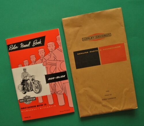 Original Vintage 1960 Harley Duo Glide FL FLH Rider Hand Book Owners Manual