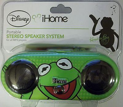 Disney iHome DK-M13 MP3 Stereo Speaker System Kermit the Frog Muppets Kiddesigns
