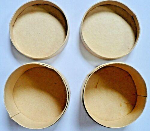 "Paper Mache Boxes DIY Craft 2 Round 2 1/4"" Diameter X 1 1/2"" Tall New Condition"