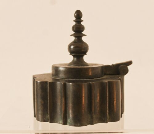 Antique Indian Islamic Bronze Inkwell