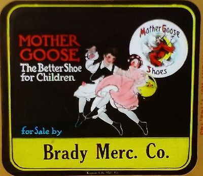 Mother Goose - The Better Shoes for Children, Vintage Glass Magic Lantern
